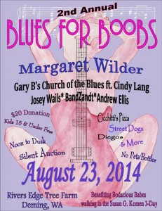 """Blues for Boobs"" benefiting Bodacious Babes @ River's Edge Christmas Tree Farm 