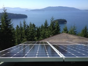 View from a 5.28 kW system above Chuckanut Bay.
