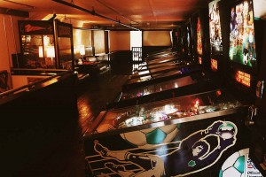 Racket Bar and Pinball Lounge is a great place to warm up and have some fun.