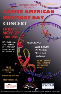 Native American Heritage Day Concert @ Bellingham Unitarian Fellowship | Bellingham | Washington | United States