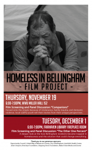 Homeless in Bellingham Film Screening and Panel @ Fairhaven Library Fireplace Room   Bellingham   Washington   United States