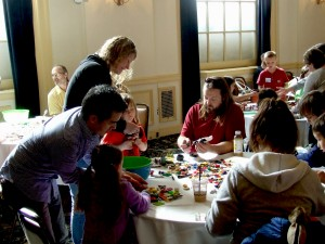 Families work together as a team to build a creation in a no-stress environment. Photo courtesy: Rachel Andrews.