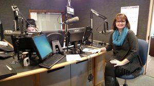 Patti Rowlson on the radio