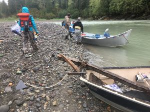 Floating the Nooksack River enabled North Sound TU and its partners to successfully clean up the river's shores. Photo credit: Copi Vojta.