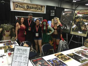 Wilson Large attended Rose City Comic-Con in Portland, Oregon with (Cat Lady) Brandi Sheppard, Large, (Stanzi) Collene Ames, Makeup Assistant Izabella Kornelis, and a friend. Photo courtesy: Wilson Large.