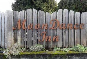 Head east to the corner of Austin and Cable to stay at the Moon Dance Inn. Photo credit: Patricia Herlevi.