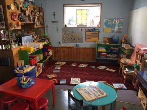 A cozy school house classroom designed for fostering inspiration and lasting lessons. Photo credit: Dondi Tondro-Smith.