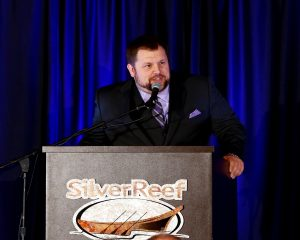 Guy Occhiogrosso serves as the emcee of the Chamber of Commerce's Annual Awards Dinner. Photo credit: Radley Muller Photography.