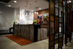 Regus' rustic interior lends an air of professionalism to any business meeting. Photo courtesy: Regis.