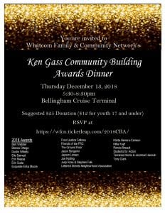 WFCN's Ken Gass Community Building Awards Dinner @ Bellingham Cruise Terminal