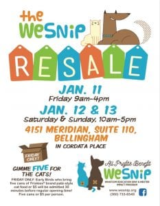 January WeSNiP Fundraiser @ Cordata Place