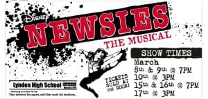 Newsies, the Musical by Lynden High School Performing Arts @ Judson Hall (Old LMS Campus)