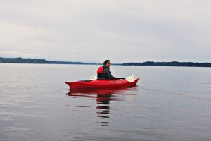 Kayaking is an activity that can be enjoyed alone or in a group.