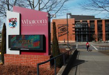 Entrance to Whatcom Community College.