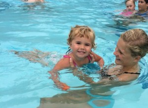 Kids can have fun and cool off in the aquatic center.