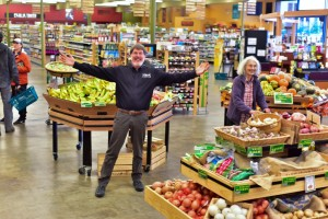 Stephen Trinkaus, owner and general manager of Terra, welcomes customers to his expanded store. Photo courtesy: Terra Organic and Natural Foods.