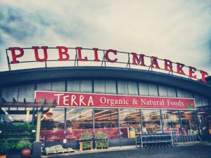 The exterior of Terra's home in the Bellingham Public Market. Photo courtesy: Terra Organic and Natural Foods.