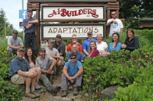The A-1 Builders and Adaptations Design Studio crew are looking into ways of becoming a worker-owned cooperative. Photo courtesy: A-1 Builders.