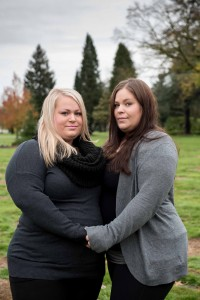 Thanks to Pass The Hat, sisters Robyn Scott (left) and Taylor Sernesky are finding emotional healing and financial relief after the sudden death of their father. Photo courtesy: Amy Woodward.