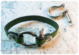 Give a friend a piece of nautical style with this stainless steel shackle bracelet. Photo courtesy: Nautical Gnome.