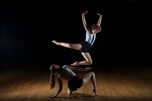 """""""My hope is that the more professional-level contemporary dance people have access to, the more interest there will be for expanding both our local and imported dance palates,"""" said Alethea Alexander, dancing here with Wyn Pottratz. Photo credit: Nolan McNally."""