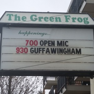 The Green Frog plays host to Bellingham's popular Guffawingham.