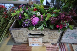 Small bouquets of fresh flowers are available at Dona Flora in the Bellingham Farmers Market.