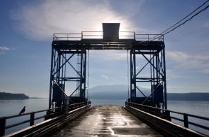 The Lummi Island ferry dock is the gateway to Baker Preserve Trail.