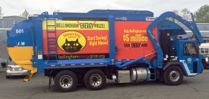 Sanitary Service Company is doing their part to help Bellingham win by spreading the word. Photo credit: Mark Peterson.