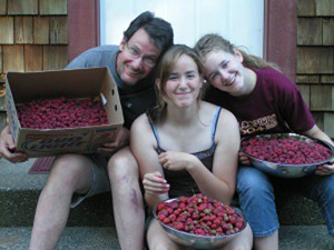 Picking berries with friends and family is a delicious way to spend a summer afternoon. Photo credit: Barb Hoag.
