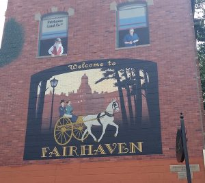 Fairhaven welcome sign