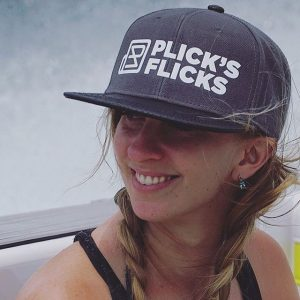 Katie Ann Plick, 25, owner of Plick's Flicks, cherishes the balance between filming and snowboarding on her own time at Mt. Baker Ski Area. Photo courtesy: Plicks Flicks.