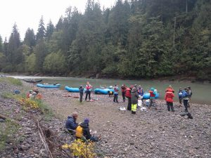 Multiple organizations and individuals organized a clean up event on the Nooksack River in September 2016. Photo credit: Jon Luthanen.