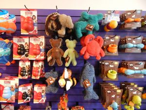 Village Green Pet Supply offers a variety of fun dog toys. Photo credit: Patricia Herlevi.