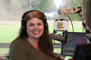 Nominee and Winner of Top 7 Under 40, Mandy Richards enjoys her dream DJ career on Kafe 104.1's morning radio show. Photo credit: Theresa Golden.