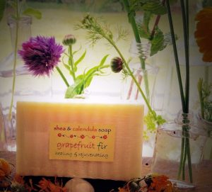 Hand-crafted soap made from locally-grown plants. Photo courtesy: Christie Tomlin.
