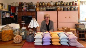 Christie Tomlin has been making plant-based personal care products for 37 years. Photo credit: Patricia Herlevi.