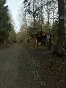 Kiosk Hotel is the first kiosk and map station on the South Entrance of Galbraith. Photo credit: Taylor Bailey.