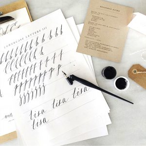 Brittany O'Brien recommends calligraphy as an option for customized letter writing. Photo credit: Brittany O'Brien, Owner of Spruce.