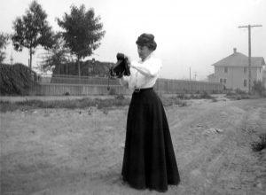 This is a rare photo of prolific award-winning Pacific Northwest writer, Ella Higginson. Photo courtesy: Whatcom Museum.