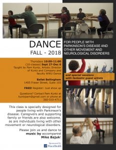 Dance for PD and Other Movement and Neurological Disorders @ Ballet Bellingham | Bellingham | Washington | United States