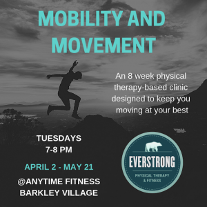 8-week movement and mobility clinic: Anytime Fitness Barkley Village @ Anytime Fitness: Barkley Village