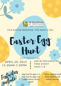 Free Easter Egg Hunt @ The Bellingham at Orchard Memory Care