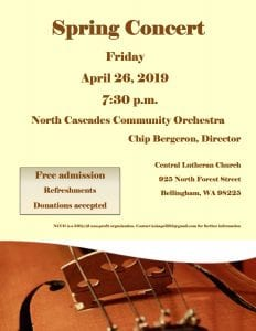 North Cascades Community Orchestra Spring Concert @ Central Lutheran Church