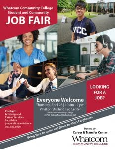 WCC Student and Community Job Fair @ Whatcom Community College, Pavilion Student Rec Center