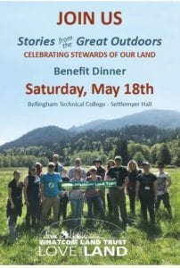 Whatcom Land Trust Spring Benefit Dinner @ Bellingham Technical College, Settlemyer Hall