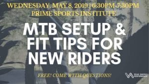 MTB Setup & Fit Tips for New Riders @ Prime Sports Institute