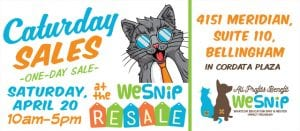 April WeSNIP Caturday Sale Fundraiser @ Cordata Place