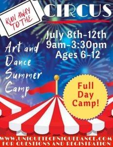 Run Away to the Circus Art & Dance Camp @ Unique Technique Dance Studio