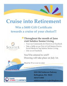 Cruise Into Retirement @ Solstice Senior Living